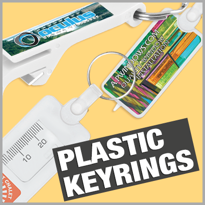 Plastic Keyrings personalised with print